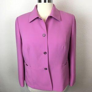 Tahari 16W Jacket Blazer Pink / Orchid Purple EUC